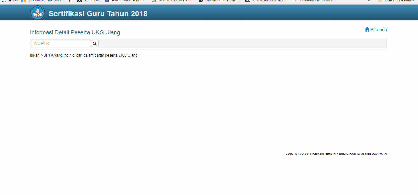 Masukkan No NUPTK - Info [K-Moe]