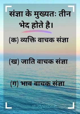 संज्ञा की परिभाषा भेद एवं विश्लेषण(sangya kise kahte hai)