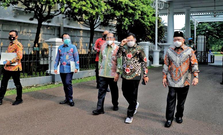 Pimpinan DPD RI Berkunjung ke Istana Bogor