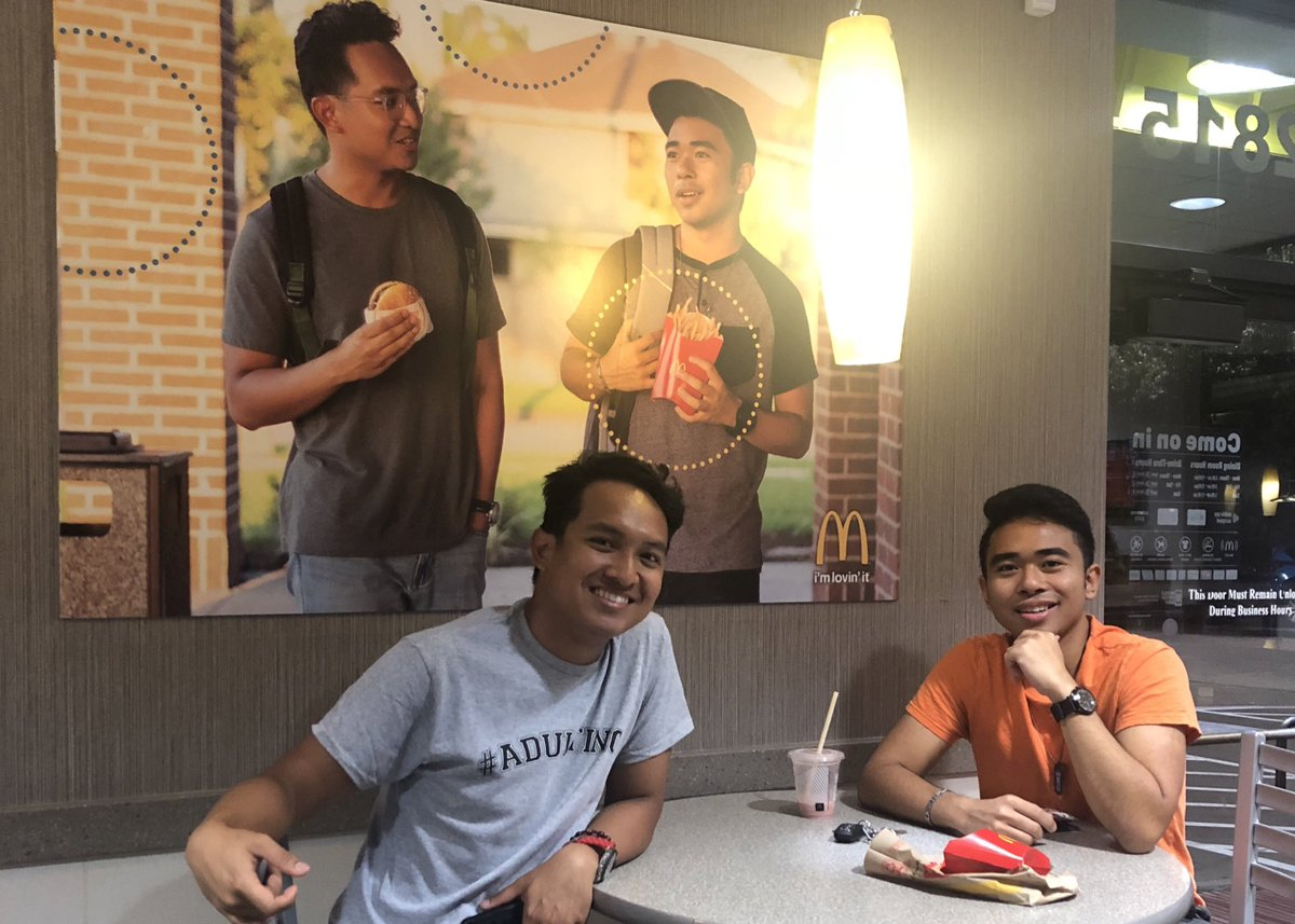 Friends put fake McDo poster of themselves on wall