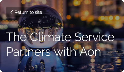 The Climate Service Partners with Aon