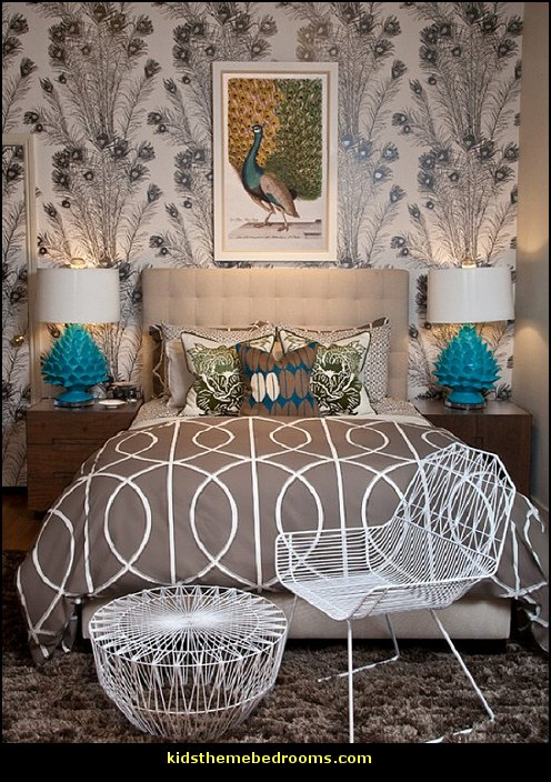 Peacock Living Room Inspired Furniture Packages Decorating Theme Bedrooms - Maries Manor: ...