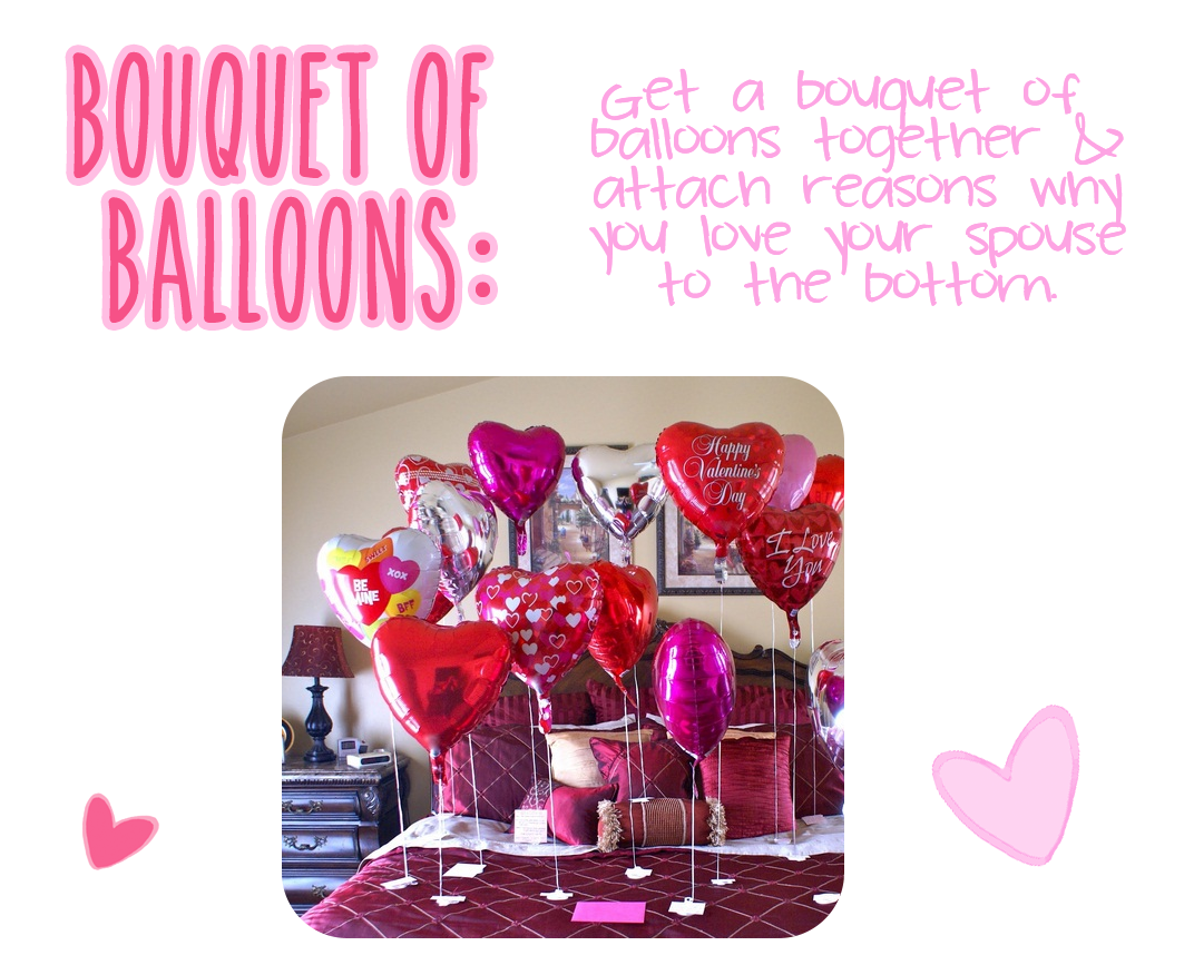 6 Romantic Gestures to make your spouse smile - LaurenPaints.com - Bouquet of Love Balloons