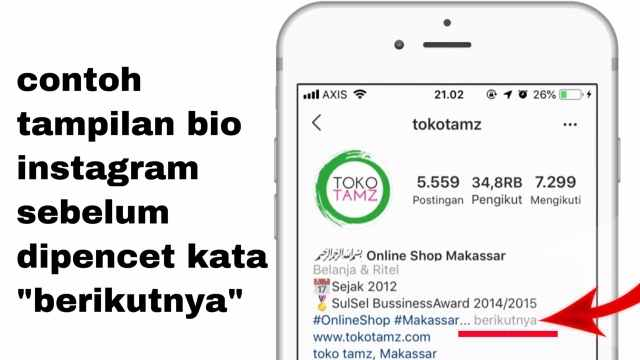 Optimasi Bio Instagram Jualan Online Modal Hashtag Tamlika