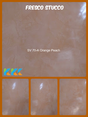 Jual cat stucco warna orange muda