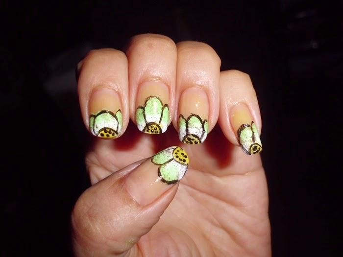 manicuras de flores