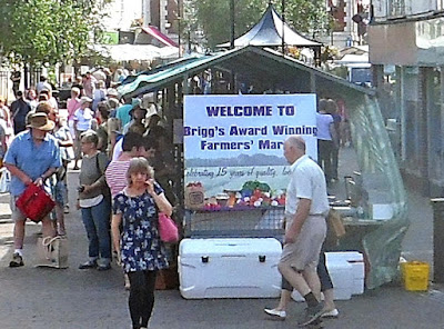 A July Brigg Farmers' Market in the town centre