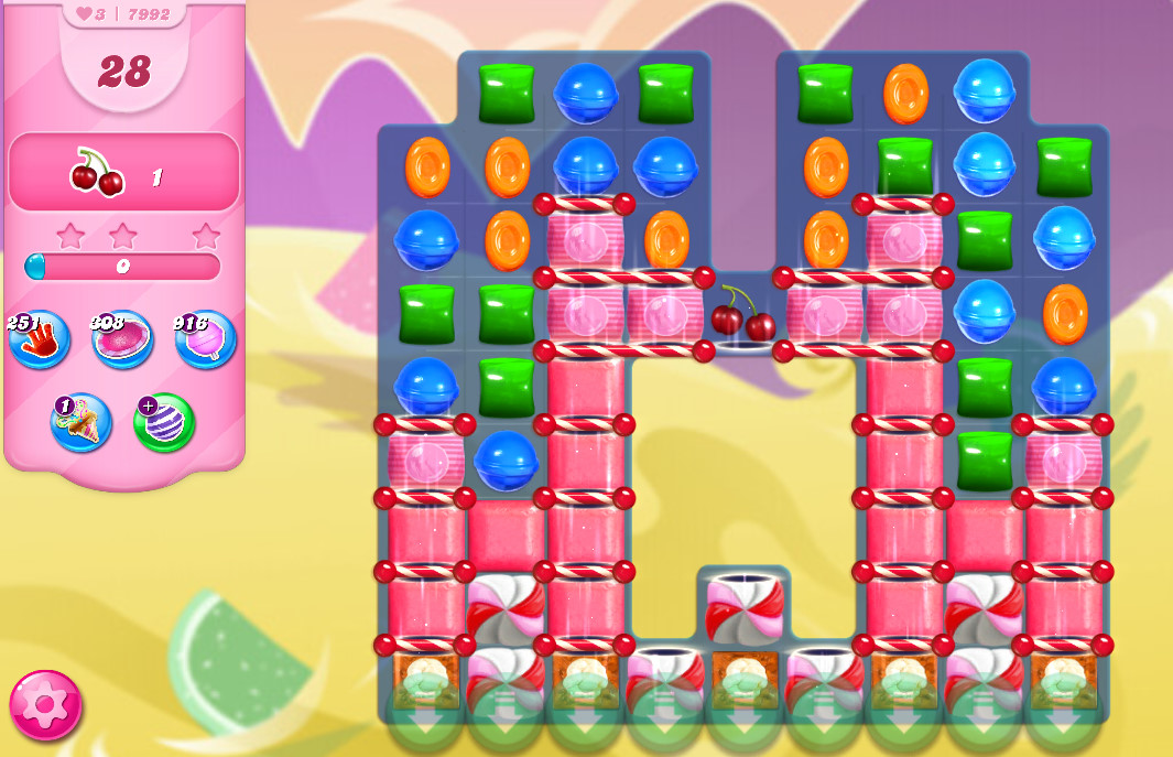 Candy Crush Saga level 7992