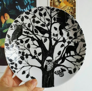 Whoopidooings: RYWF - Beautiful illustrated Forest porcelain plate from ASDA