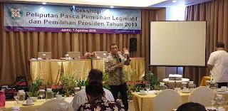 Dewan Pers Menggelar Workshop Peliputan Pasca Pemilu Di Kota Jambi.