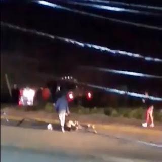 Motociclistas atropellado por una camioneta