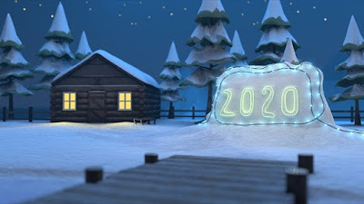 snowy new year images