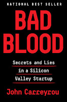 The cover shows the title in large red type with a subtitle: Secrets and Lies in a Silicon Valley Startup.