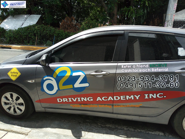 Car Stickers & Decals - A2Z Driving Academy Inc.