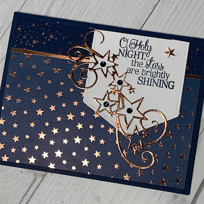 Christmas Card using So Many Stars Stamp Set