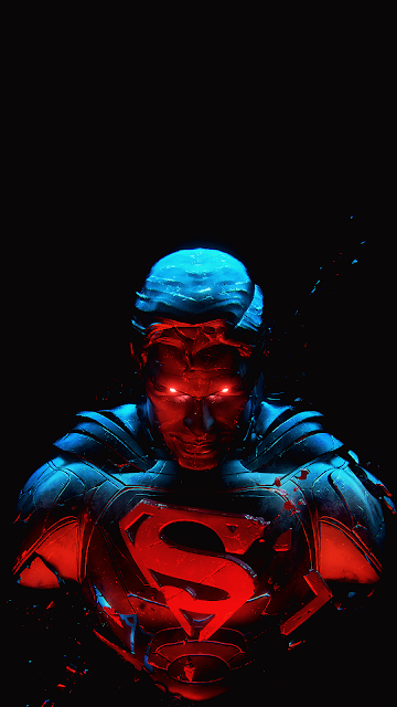 superman wallpaper amoled for phone in 1080 x 1920 pixels