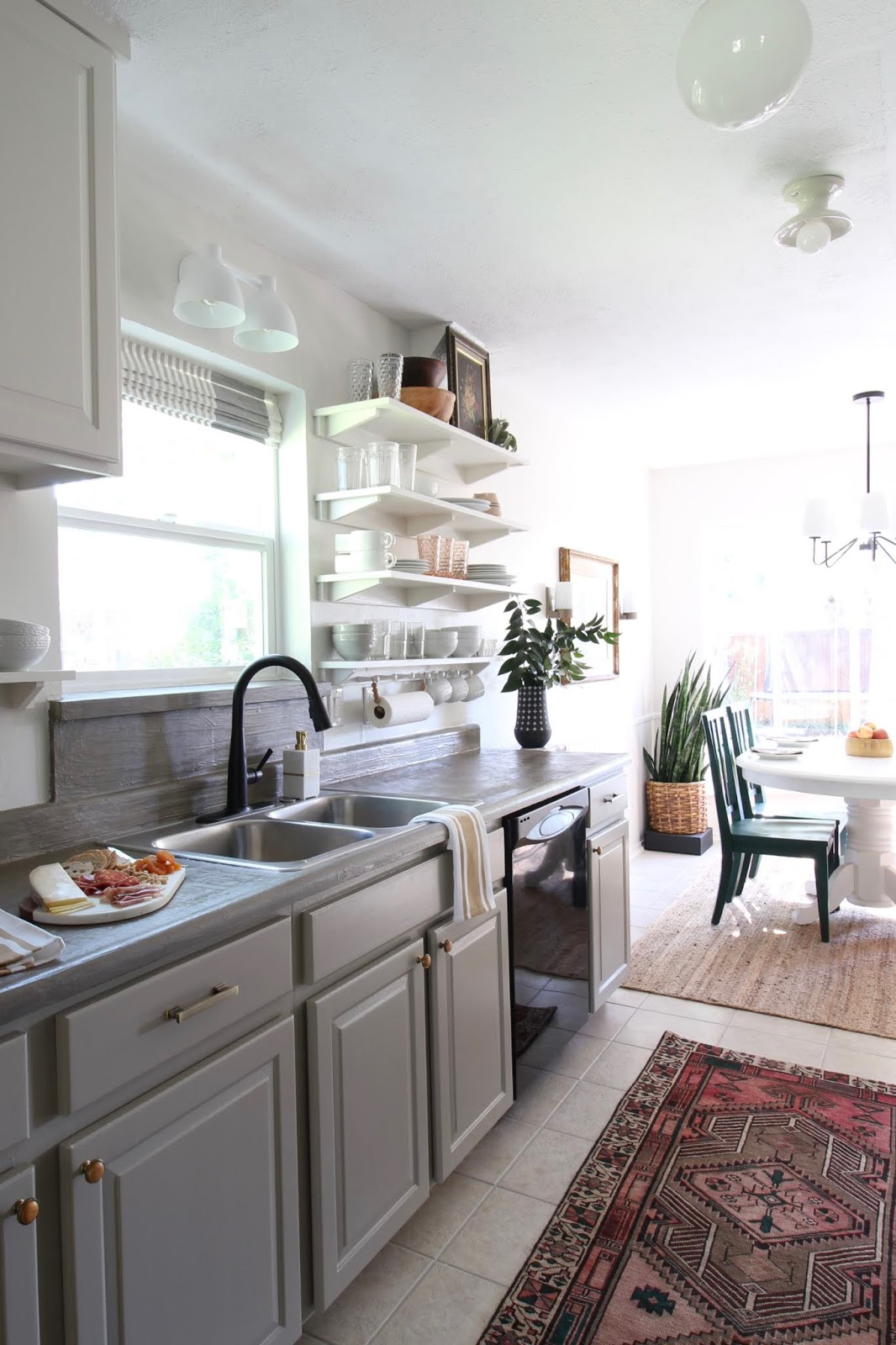 One room challenge budget kitchen makeover concrete counter tops | House Homemade