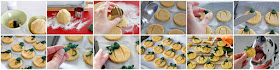 How to make pumpkin shaped dog treats in a step-by-step collage