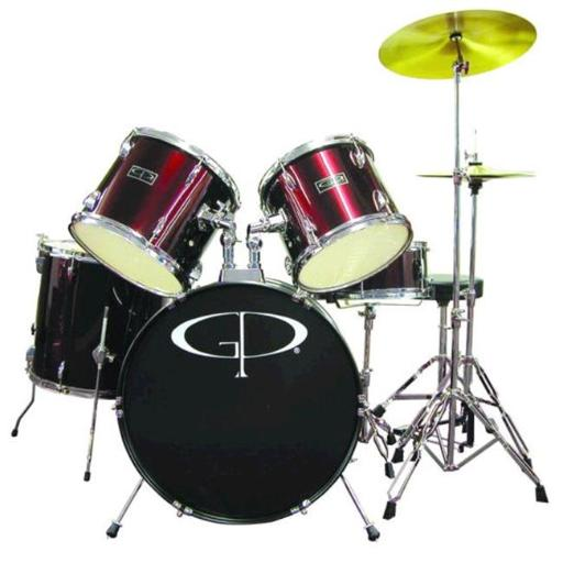 Gp Percussion Player Drum Set Met Wr - GP100WR