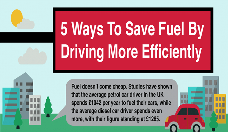 5 Ways To Save Fuel By Driving More Efficiently #infographic