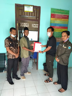Salah satu Anggota LSM Nusantara Daftarkan diri di Pilkades Rantau Kapas Mudo