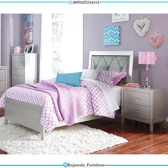 Model Tempat Tidur Anak Minimalis Putih Duco Modern Style RM-0439