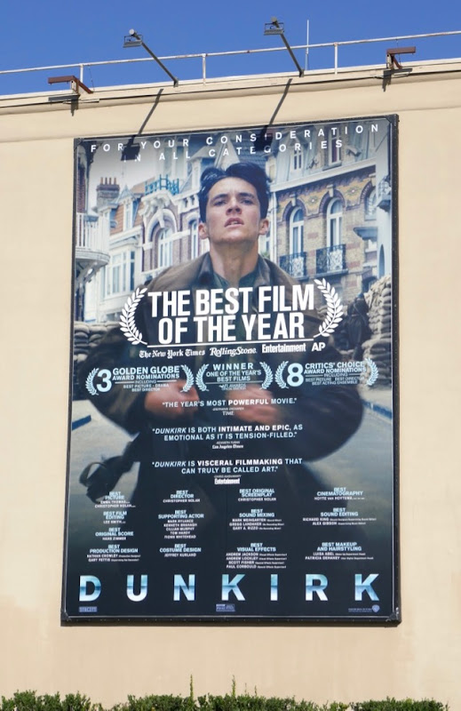 Dunkirk Oscar nominee billboard