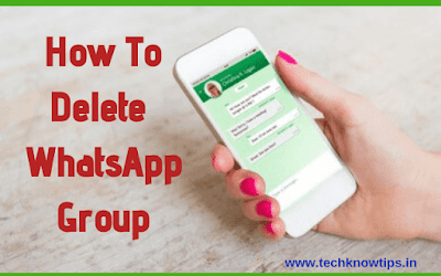 How To Delete Whatsapp Group Permanently - Step By Step Guide [In Hindi]