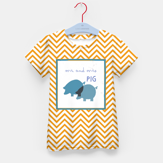 printed tshirts for kids, animals and chevron pattern