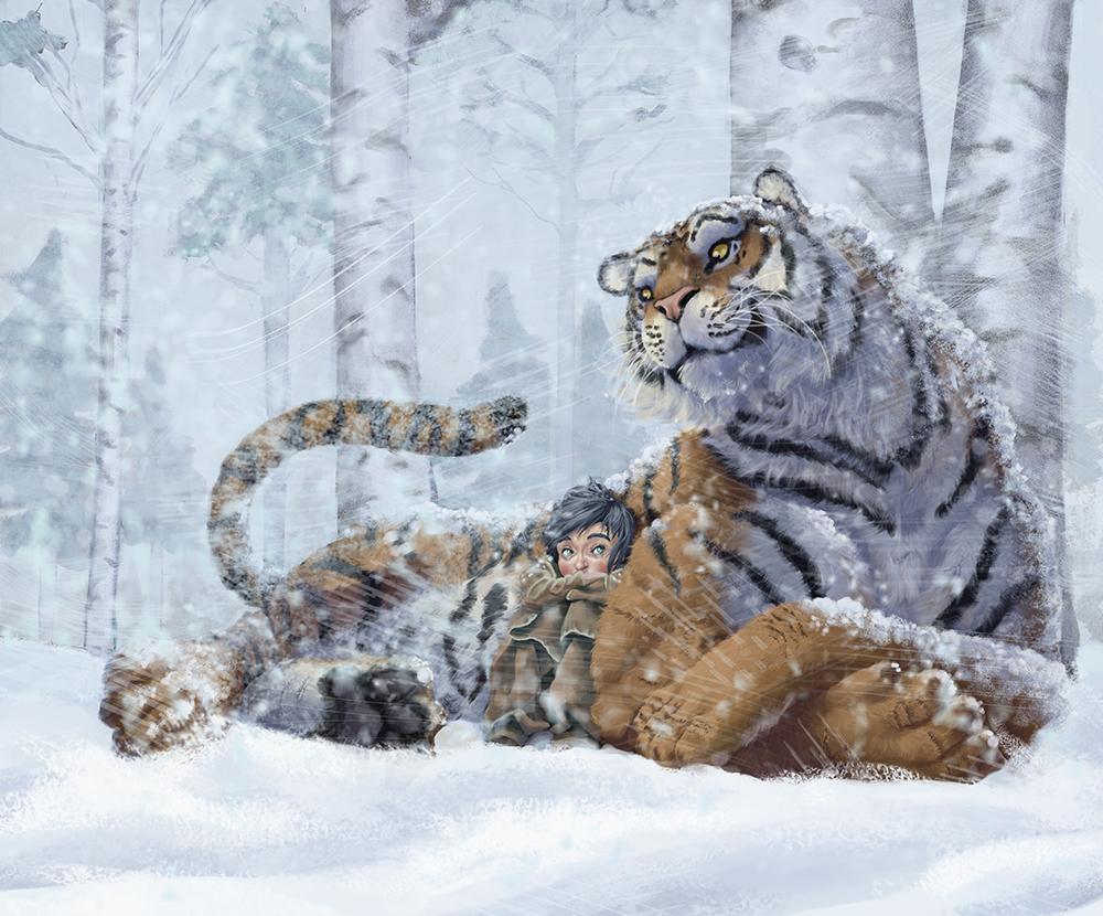april tiger girl and dad