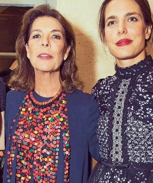 Princess Caroline of Monaco, Charlotte Casiraghi, Tatiana Santo Domingo style, wore dresess, jewelery, earrings, wedding ceremony
