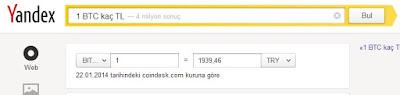 Bitcoin kur hesapları Yandex'te