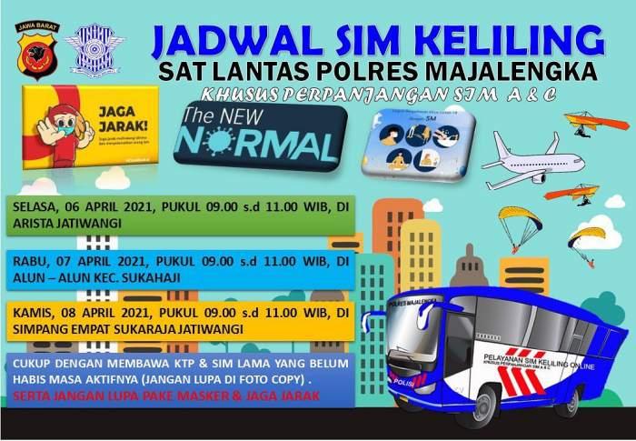 Jadwal SIM Keliling Majalengka April 2021