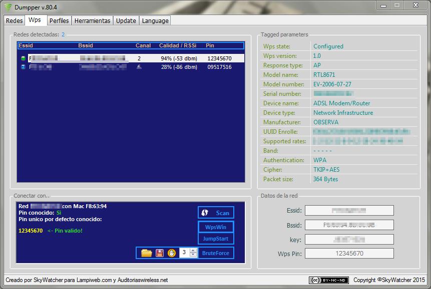 Hackear WIFI (WPS y WPS2) Dumpper V.90.1