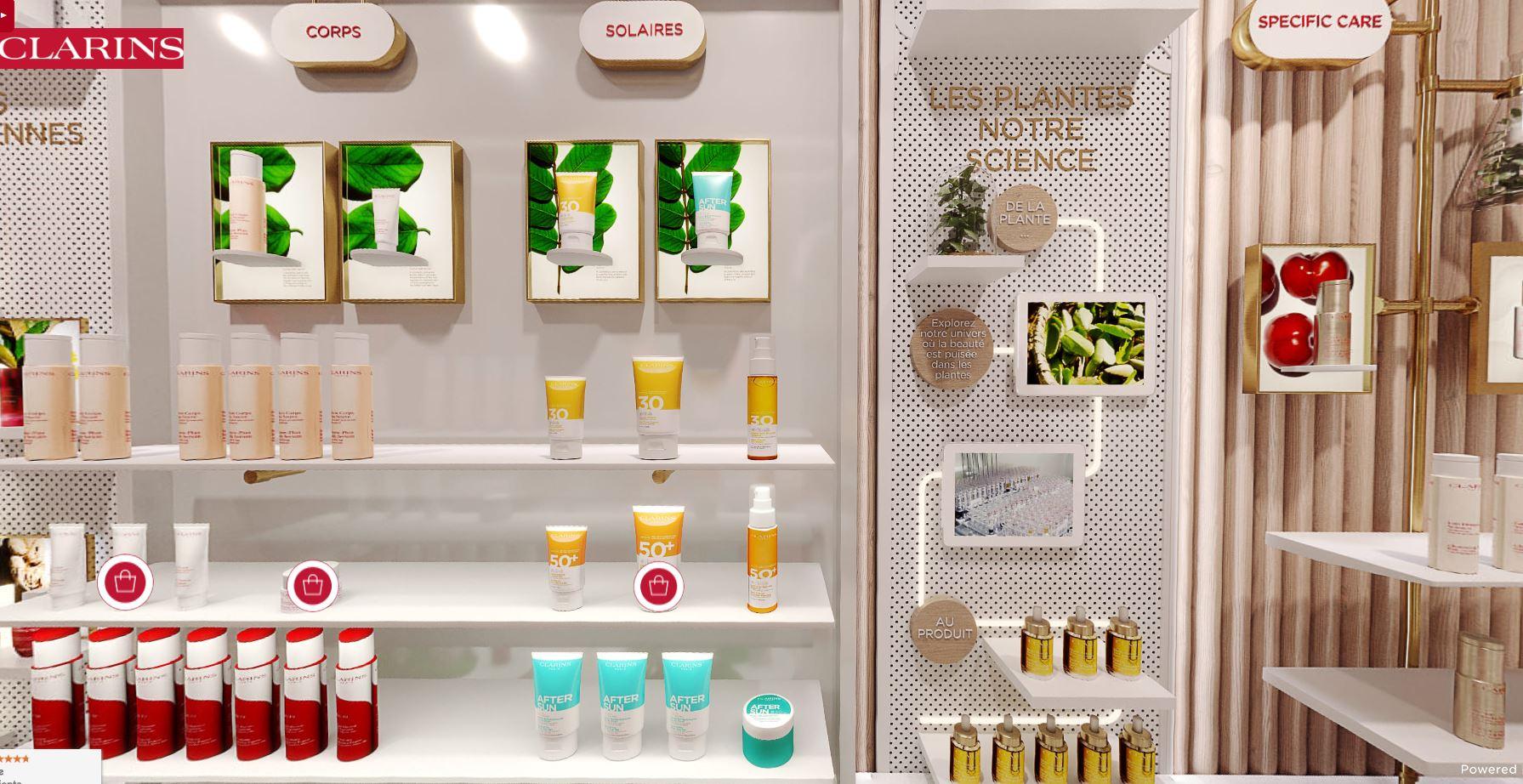revue beauté boutique virtuelle clarins