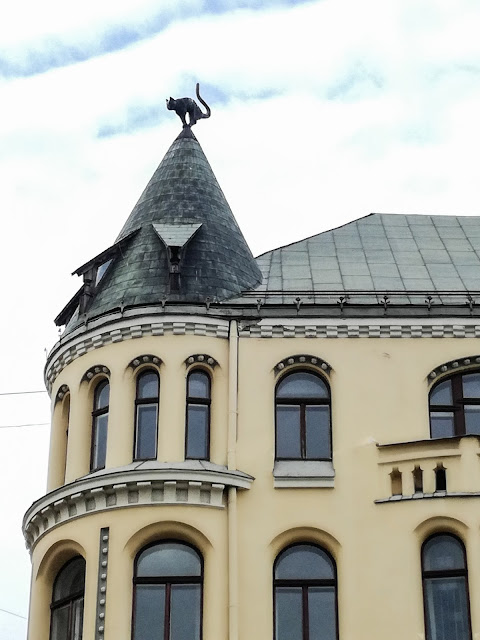 Dom Kotów; Ryga; Łotwa; latwia; riga; cat; house; city
