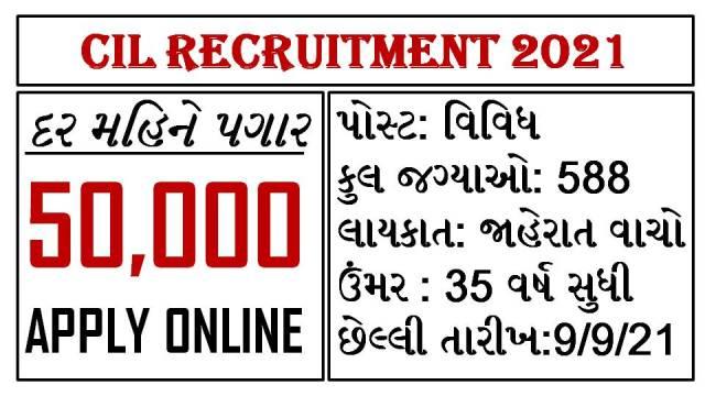 CIL Recruitment Notificatin 2021 @coalindia.in