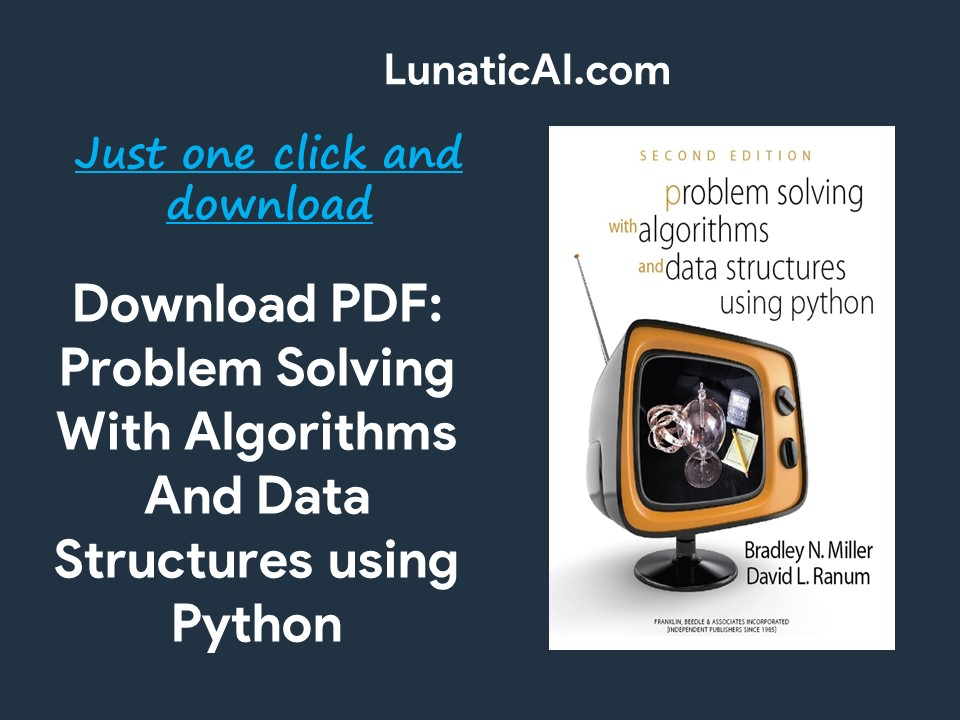 Problem solving with algorithms and data Structures using python pdf GitHub