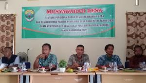 Desa Suak Putat Bentuk Panitia pemilihan BPD dan susun RKPDes 2021