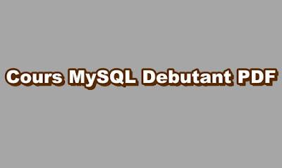 Cours MySQL Debutant PDF