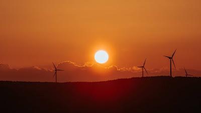 Free Wallpaper Windmill HD, Sun, Sunset, Clouds