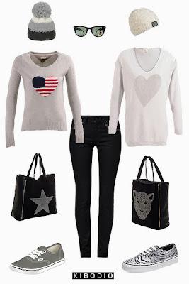 Un jean noir et deux ensembles