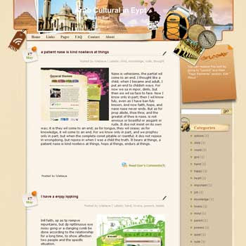 Arab Cultural in Egypt Blogger Template. free download template blogspot