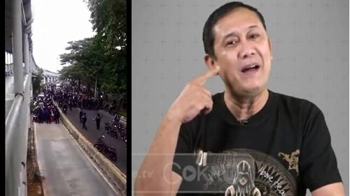 Demo Pecinta HRS Berujung Ricuh, DS: Nasbung-Nasbung Bergerak, Tangkepin Saja Pak Polisi!
