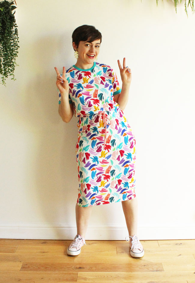 Tilly's Rainbow Brushstrokes Tabitha T-Shirt Dress