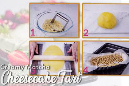 Creamy Matcha Cheesecake Tart