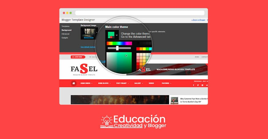 Plantilla Blogger 2019 profesional gratisn fasel news