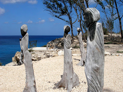 Scultured trees at Sacred Space, Clifton Heritage, Nassau, Bahamas.