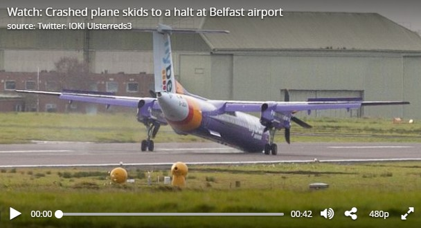 Flybe plane skids to halt