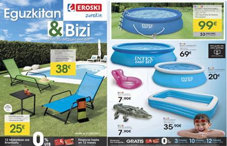 eroski zurekin catalogo de piscinas y muebles verano 2017 On piscinas eroski
